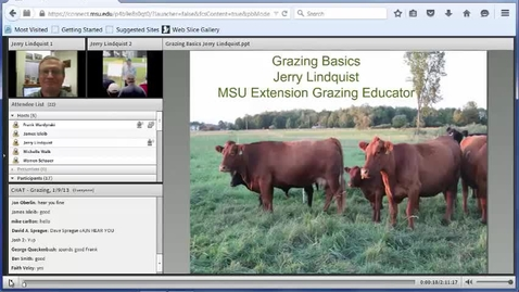 Thumbnail for entry Grazing
