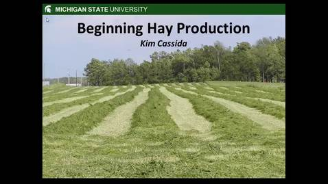 Thumbnail for entry Hay Production
