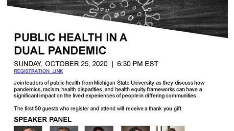 Thumbnail for entry MSU Public Health - Public Health in a Dual Pandemic