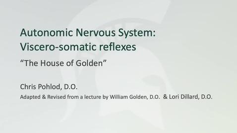 Thumbnail for entry ANTR510 Introduction to the Autonomic Nervous System - Sympathetic
