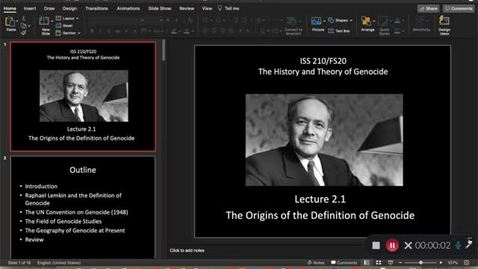 Thumbnail for entry Lecture 2.1 - Part 1