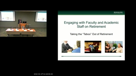 Thumbnail for entry Engaging with Academics on Retirement-Event from March 27, 2018