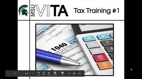 Thumbnail for entry MSU VITA: Training #1