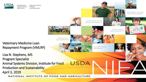 Thumbnail for entry USDA Veterinary Medicine Loan Repayment Program Webinar