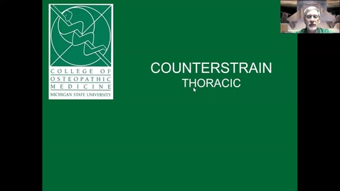 Thumbnail for entry Thoracic Counterstrain