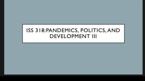Thumbnail for entry ISS 318 10.Politics III