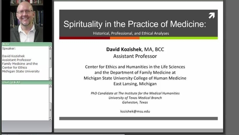 Thumbnail for entry Spirituality in the Practice of Medicine: Historical, Professional, and Ethical Analyses