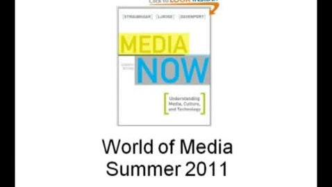 Thumbnail for entry JRN 108-730 - World of Media - Our Changing Media - Part One