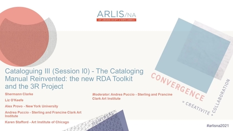 Thumbnail for entry The Cataloging Manual Reinvented: the New RDA Toolkit and the 3R Project