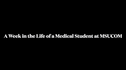 Thumbnail for entry Week In the Life of MSUCOM Student - East Lansing