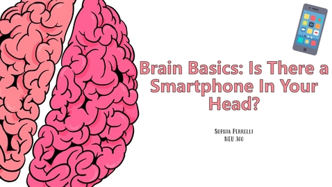 Thumbnail for entry NEU 300 -Brain Basics: Is There a Smartphone in Your Head?