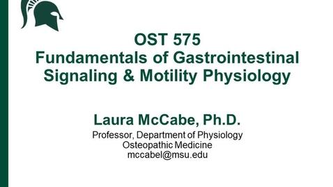 Thumbnail for entry 005. Physiology: Fundamentals of GI Signaling & Motility