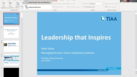 Thumbnail for entry Leadership that Inspires