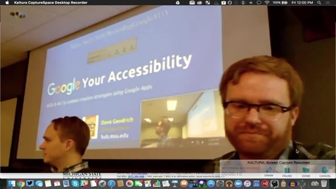 """Thumbnail for entry Brown Bag - """"Google Your Accessibility"""" April 1, 2016"""