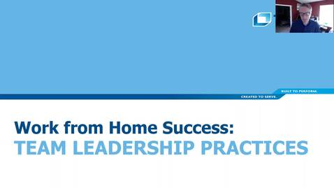 Thumbnail for entry Team Leadership Practices