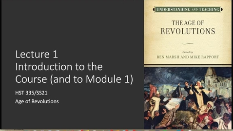 Thumbnail for entry Lecture 1  Part I: Introduction to the Course
