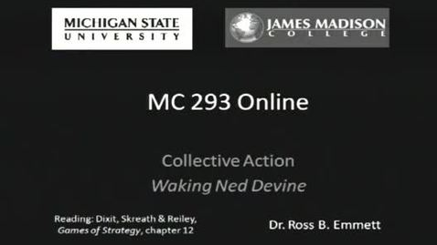 Thumbnail for entry Collective Action Solutions in the Movie Waking Ned Devine