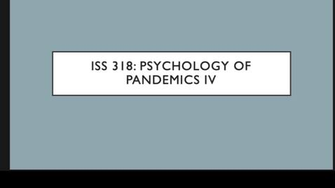 Thumbnail for entry ISS 318 6.Psychology IV