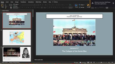 Thumbnail for entry Lecture 6.1 - Part 1