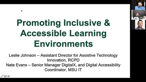 Thumbnail for entry Remote Instruction Training (Day 2): Accessibility & RCPD