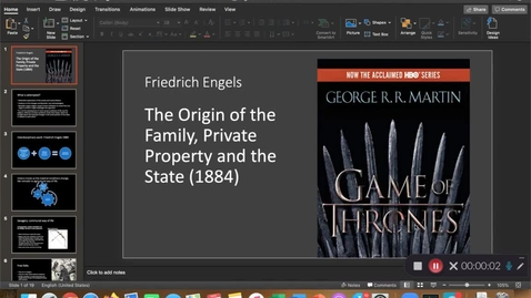 Thumbnail for entry Engels: Family and private property