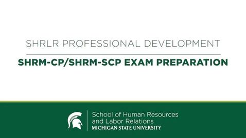 Thumbnail for entry Essentials for your SHRM success