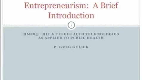 Thumbnail for entry HM885 Entrepreneurism-Presentation