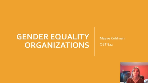 Thumbnail for entry Gender Equality Organizations