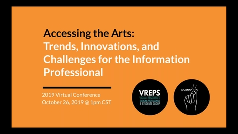 Thumbnail for entry ArLiSNAP & VREPS 2019 Virtual Conference