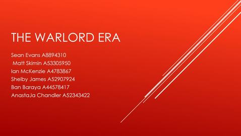 Thumbnail for entry ISS330B-003-The Warlord Era