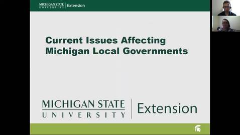 Thumbnail for entry Current Issues Affecting Michigan Local Governments: Helping Communities Deal With the Opioid Crisis