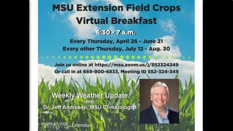 Thumbnail for entry Virtual Breakfast 8-30-18:  Jeff Andresen Weather Report