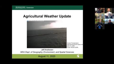 Thumbnail for entry Agricultural weather forecast for August 11, 2020