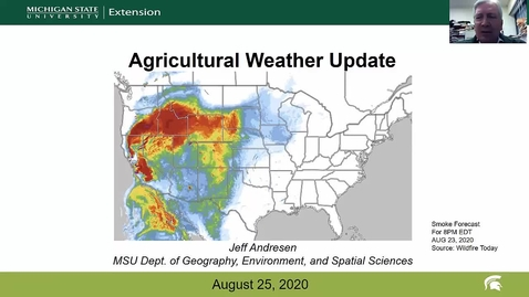 Thumbnail for entry Agricultural weather forecast for August 25, 2020