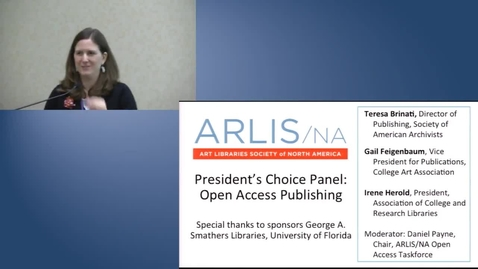 Thumbnail for entry President's Choice Panel: Open Access Publishing