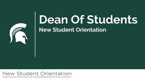 Thumbnail for entry Dean of Students Office NSO