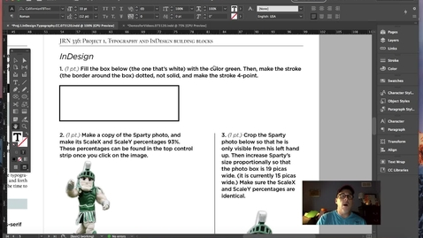Thumbnail for entry InDesign and Typography Fundamentals.Vol.2