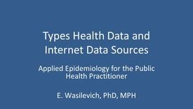 Thumbnail for entry HealthDataAndSources_S2013
