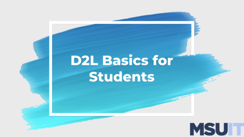 Thumbnail for entry IT Virtual Workshop - D2L Basics for Students Webinar