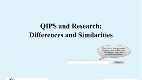 Thumbnail for entry QIPS and Research Differences and Simularities