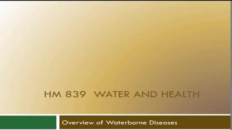 Thumbnail for entry HM839WateborneDiseases