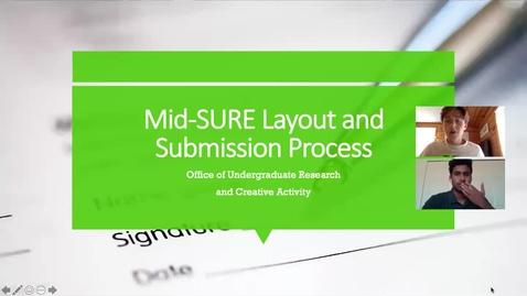 Thumbnail for entry Mid-SURE 2021 Layout and Submission Process