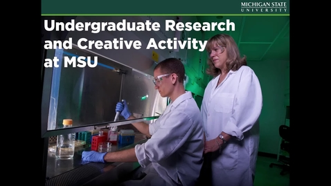 Thumbnail for entry What is Undergraduate Research
