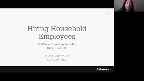 Thumbnail for entry Hiring Household Employees and Various Tax Responsibilities