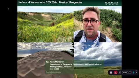 Thumbnail for entry Welcome to GEO 206v -- Physical Geography