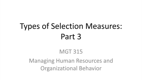 Thumbnail for entry 3.Types of Selection Measures.Part 3