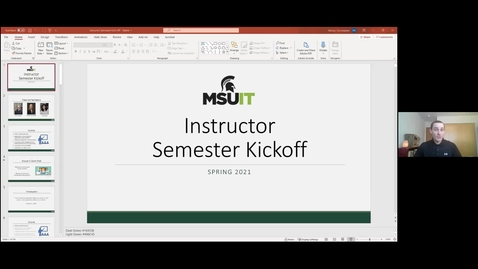 Thumbnail for entry IT Virtual Workshop - Instructor Semester Kick-Off