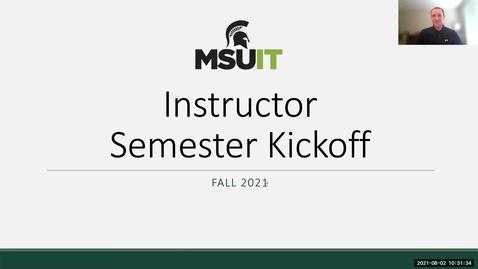 Thumbnail for entry IT Virtual Workshop - Fall Semester Kick-off (08.02.2021)