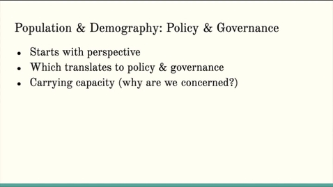 Thumbnail for entry ISS310: Population Policy & Governance