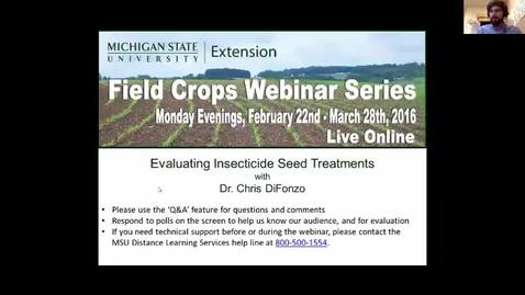 Thumbnail for entry Evaluating Insecticide Seed Treatments
